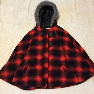 Old navy girls winter cape jacket